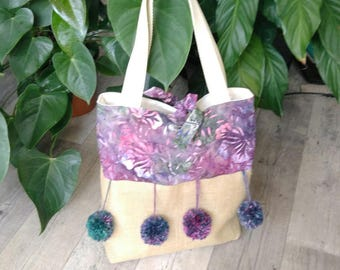 Bag style tote bag has tassels