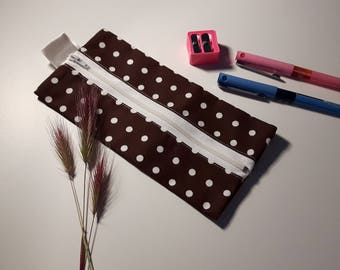 Kit rectangular Brown with white dots - shipping included