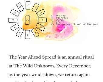 New Years Special Tarot Reading!! The Year Ahead Spread with The Wild Unknown tarot card deck