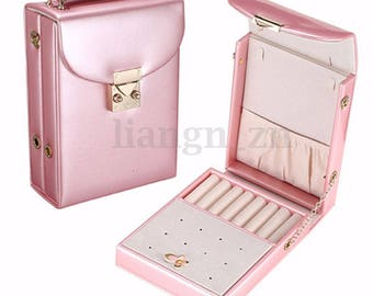 Pink 1 box for jewelry bag shoulder display 13 x 5.5 x 18.5 cm