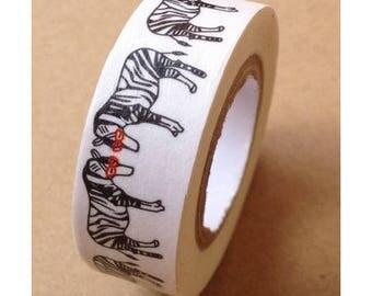 Washi tape (washi) - hidden animals