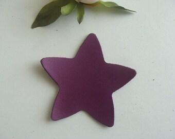 leather purple color 8 cm diameter star applique