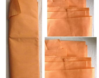 Fabric cotton coupon 2 meters Orange lining sewing notions designs