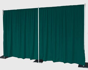 5feet x 8feet TEAL Polyester Fabric Backdrop Background Drapes for Pipe and Drape