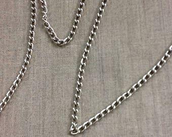 Fine silver metal chain