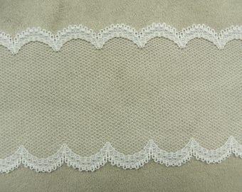 LACE of CALAIS - 7 cm - white
