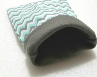 Blue chevron hedgehog snuggle sack