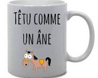 """Mug """"Stubborn as a donkey"""""""
