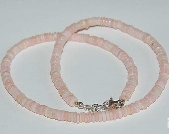Gemstone necklace with Andean Opal slices, about 45 cm long