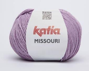 Pincushion cotton knitting MISSOURI - light lilac KATIA