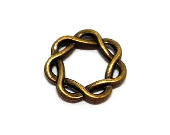 Round set of 5 connector knot bronze