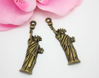 10 charms Bronze Statue of liberty New York - SC66970 - 48mm