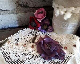 lace, taffeta flower Choker