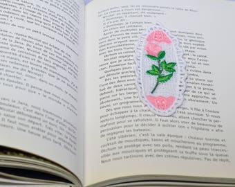 lace flower bookmark pink bookmark lace pink flower