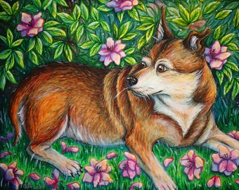 Custom Pet Painting from your own photo - Pet memorial - Dog Lover Gift - Cat Lady Gift - 10% Donation to Humane Society