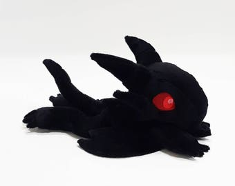 Yu-Gi-Oh - Red Eyes Black Dragon-  laying down beanie custom plush - ready to be shipped