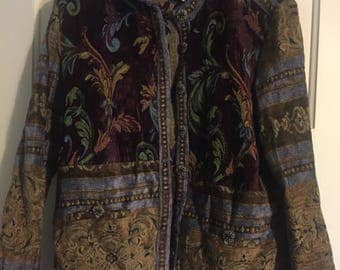 "Cool ""sag harbor"" talestry toile button multi jacket blazer"