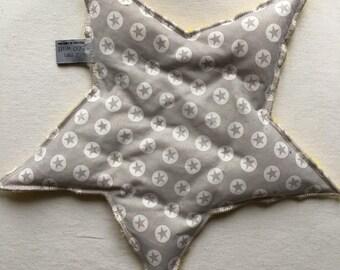 Heated form star, cotton and fleece, organic seeds