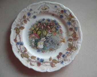 Royal Doulton 1983 Brambly Hedge 'Autumn' Afternoon Tea Plate