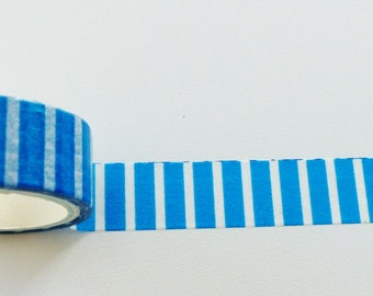 masking tape blue stripe washi 15 mm wide and 3 meters