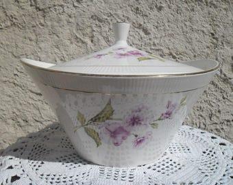 Tureen from Gien Chevreuse 1950's vintage porcelain