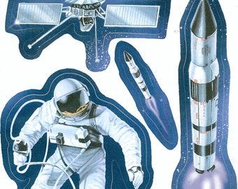 Wall decals or kids furniture * space shuttle astronaut B * 1 Board 30 cm x 20 cm