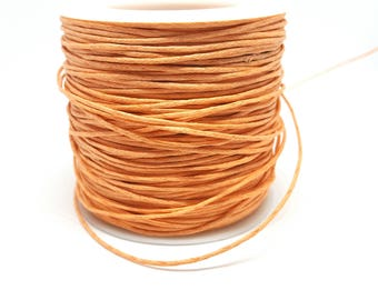 5 m knotted waxed 1 mm orange jewelry