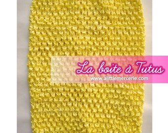 Strapless stretch stretchy crochet for baby tutu dress / girl / / Bustiers Tutu top age 2/3/4/5/6 yellow