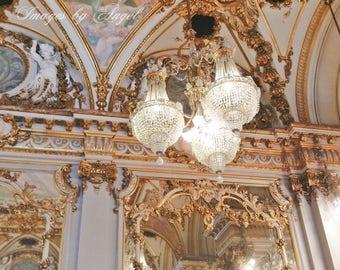 La Grande Salle de bal de Musée d'Orsay - Orsay Museum Ballroom Fine Art Photography JPG Download or Custom Art Print - Paris France Art