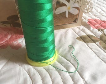 Emerald Green macrame cord or wire. 0.5 mm