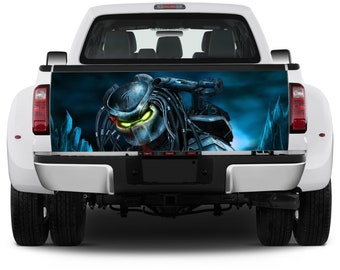 Truck Tailgate Graphics Predator Hunter Vinyl Decal Full color Sticker Wrap