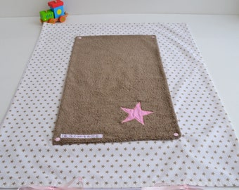 Changing mat cover towel made handmade Taupe stars baby @lacouturebytitia Mode