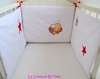 Bumper handmade caterpillars and stars baby @lacouturebytitia Mode grey