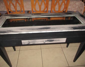 Stunning matt black consul table