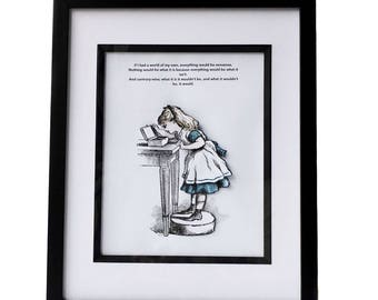 Alice in wonderland cute 3d picture and quote