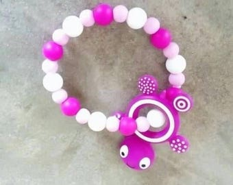 Teether silicone and turtle beads