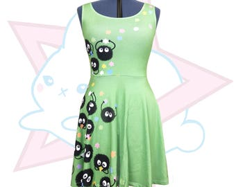Soot Sprite | Studio Ghibli | Green Skater Dress