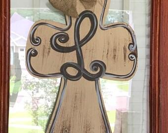Cross Wooden Door Hanger