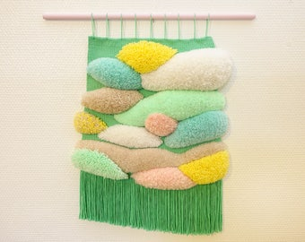 Wool woven wall hanging