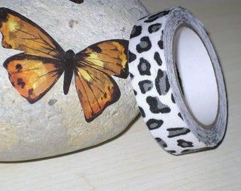 Leopard pattern tape cotton Ribbon, 1.5 cm (3 meters)