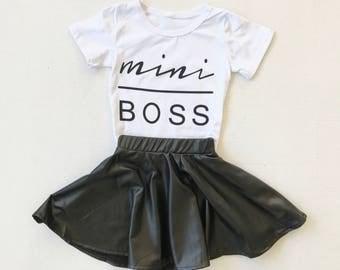 Mini boss girls two piece set