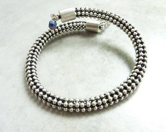 Boreal silver blue memory bracelet