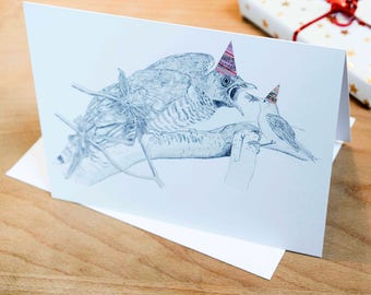Hilarious Cuckoo Chick Illustrated Happy Birthday Card