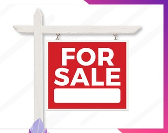For Sale Yard Sign, Real Estate For Sale Signs, Printable For Sale Signs, Custom Sale Signs, Yard Signs, Custom Yard Sign, Multiple Sizes