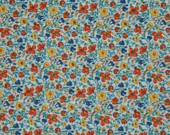 "Coupon - 45cm x 68cm Liberty of London fabric - multicolor ""Helena's meadow""."
