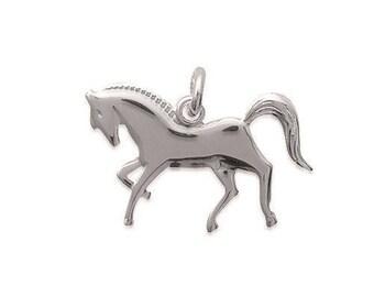 Horse pony riding Silver 925/000 pendant