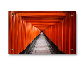 Kyoto Fushimi Inari Taisha Shrinae Wall Art Decor printed on Refined Aluminum