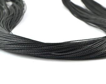 5 M Black metallic wire 0.8 mm polyester