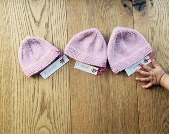 Hat pink pale premature 28 weeks