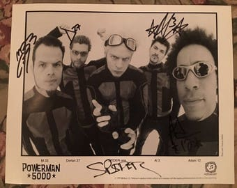 POWERMAN 5000, Press 1999 Kit (Photo only) - Officially Signed by Whole Band Grp